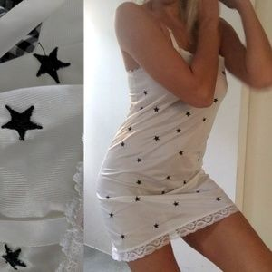 Nwt LF First of a kind star embroidery slip dress